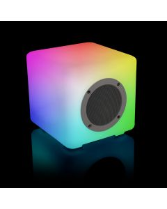 Weatherproof Variable LED Bluetooth Portable Speaker with Included Remote