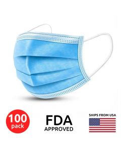 100 pack 3 Layer Disposable Medical Protective Face Masks | MM3952_X2