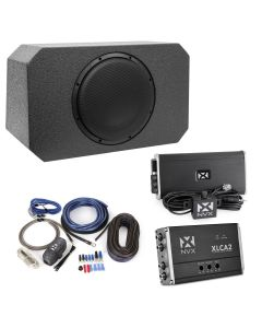 PBK-JP-WUTLD-VSW104v2 | B.O.O.S.T Series Jeep Wrangler subwoofer/bass upgrade kit with direct-fit loaded sub box, amplifier, and wiring