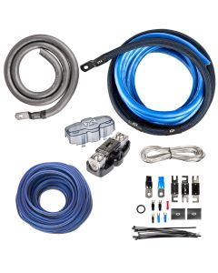 XAPK0 | Single Amp 100% Copper True Spec 1/0 Gauge Amplifier Installation Kit with 12 Gauge Speaker Wire