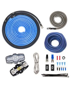 XAPK4 | 100% Copper, True Spec 4 Gauge Single Amplifier Wiring Installation Kit with Speaker Cable (No RCA)