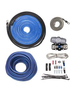 XAPK8 | 100% Copper, True Spec 8 Gauge Single Amplifier Wiring Installation Kit with Speaker Cable (No RCA)