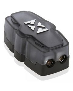 XFDBU2 | 2 Position Fused Distribution Block with One 0/1 Gauge Input and two 4/8 Gauge Outputs