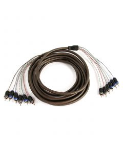 XIV65 | V-Series: 5m (16.40 ft) 6-Channel RCA Audio Interconnect Cable for 5-Channel or 6-Ch Amps