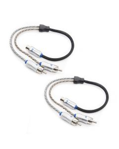 2-pack: 1 Female to 2 Male Y-Adapter RCA Cables | XIX2M