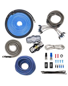 XKIT46 | 100% Copper True Spec 4 Gauge Amp Installation Kit for 5- or 6-Channel Amps, Includes RCA Interconnects & 60 ft Speaker Cable