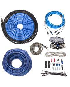XKIT82 | 100% Copper 2-Channel True Spec 8 Gauge Amplifier Installation Kit w/ RCA Interconnect and 40 ft Speaker Cable