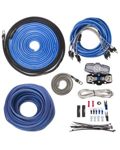 XKIT84 | 100% Copper 4-Channel True Spec 8 Gauge Amplifier Installation Kit w/ RCA Interconnect and 65 ft Speaker Cable