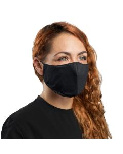 XM25BK | Plain Black Cloth Face Mask with PM2.5 Carbon Activated Filter