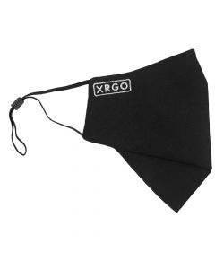 XM25BKE | Black Cloth Reusable Face Mask with Logo