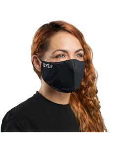 Black Cloth Reusable Face Mask with Logo | XM25BKE