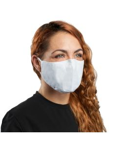 XM25WH | Plain White Cloth Face Mask with PM2.5 Carbon Activated Filter