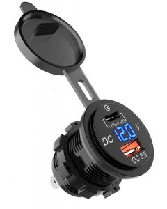 XQC303 | Dual USB Quick Charge 3.0 Car Charger with LED Digital Voltmeter
