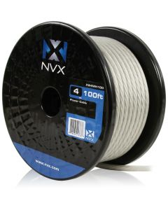 4 Gauge 100 ft Frosted White Power/Ground Wire | XW4WH100